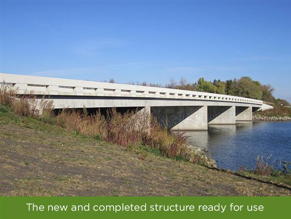 New and completed bridge ready for use by the Lake Shure development residents