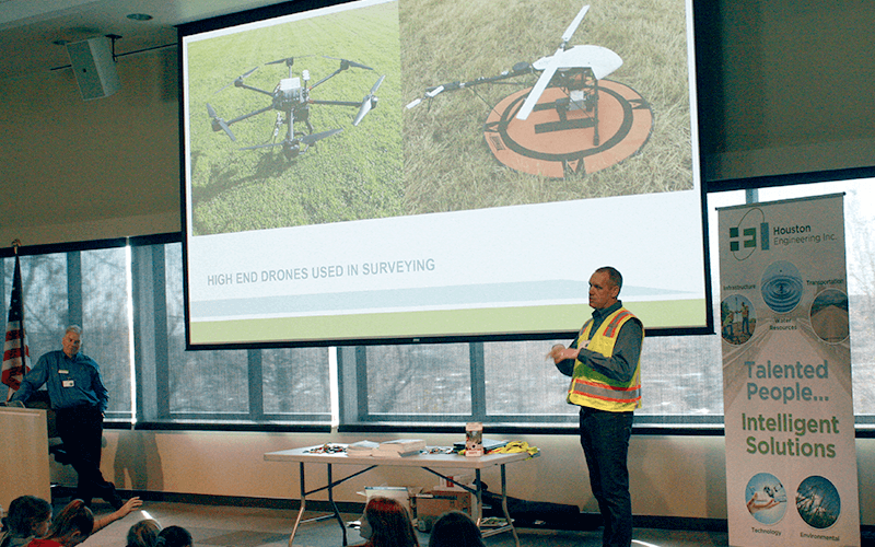 Surveyors use drones for data collection