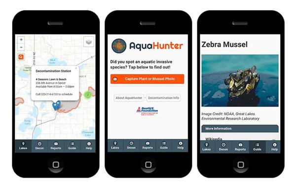 AquaHunter app on mobile devices