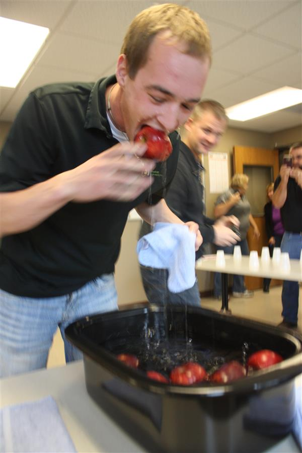 United Way Campaign Bobbing for Apples