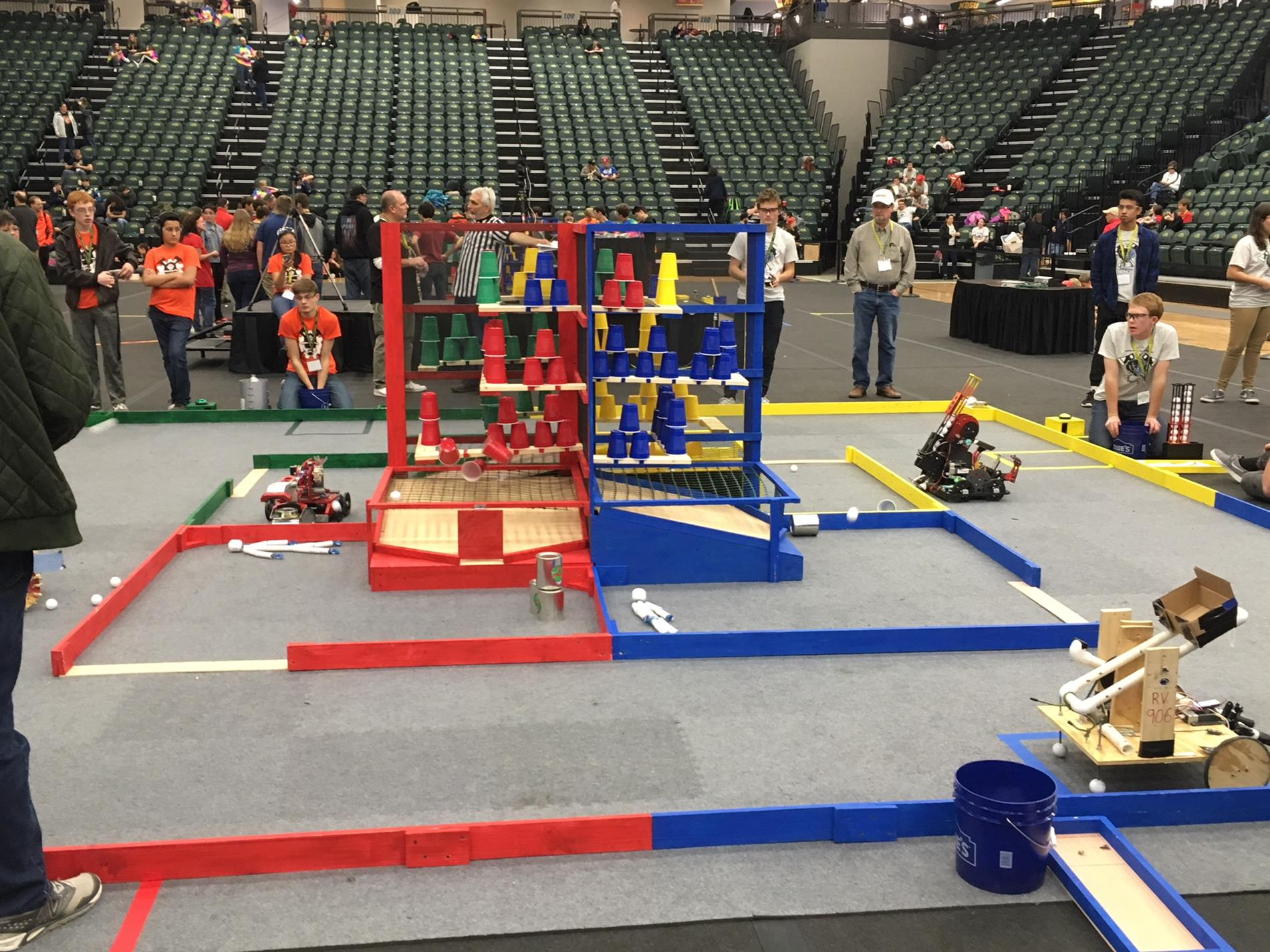 View of the BEST Robotics competition in action