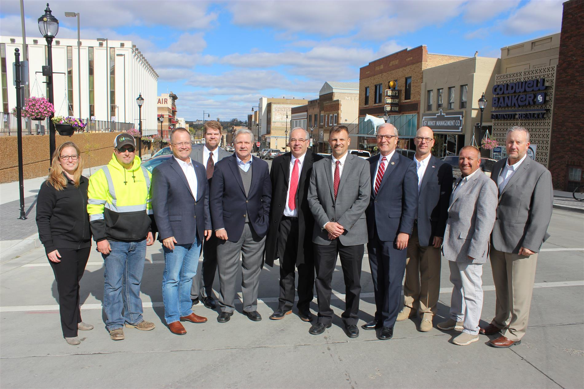 Minot Downtown ribbon cutting ceremony