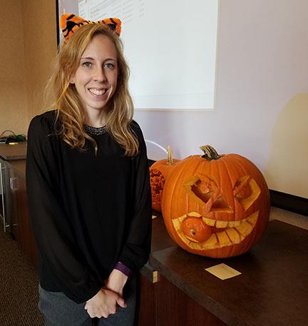 United Way Campaign Pumpkin Carving Contest Winner