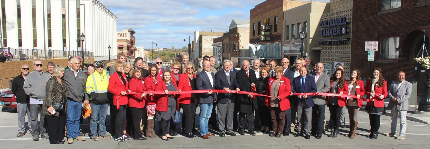 Minot Downtown Ribbon Cutting Ceremony October 2017