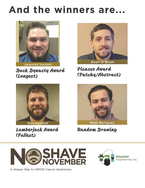 No Shave November Winners 2016