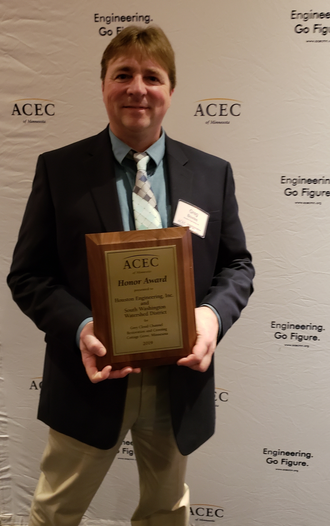 Greg Bowles at the ACEC/MN Awards Banquet