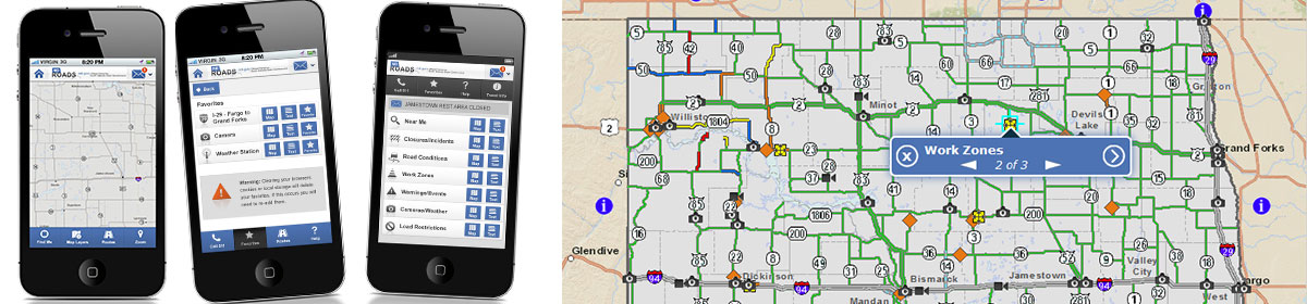 NDDOT NDRoads Mobile Application