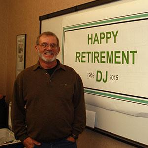 DJ retires after 45 years of service at Houston Engineering, Inc.
