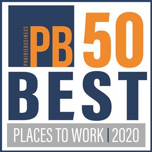 Prairie Business Best Places to Work 2020 logo