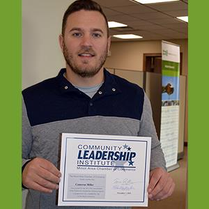 Image of Cameron Miller with his certification from CLI