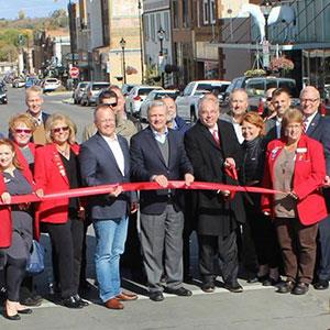 Ribbon cutting marks end of 3-year downtown revitalization project
