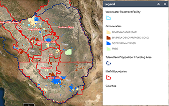 Web GIS Application for Disadvantaged Communities