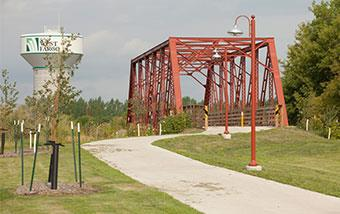 Sheyenne River Bike Trail Bridge